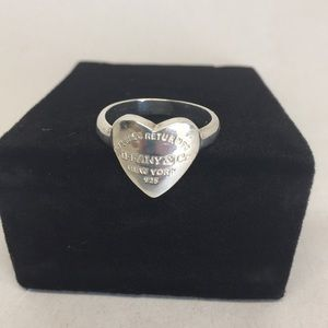 Tiffany-Return to Sender heart ring, size 9